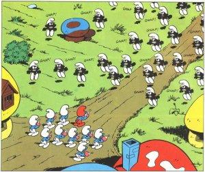 Invasione di Puffi Neri.