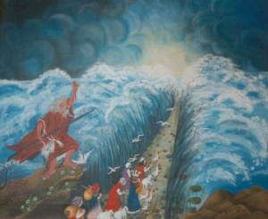 Mosè apre il Mar Rosso.