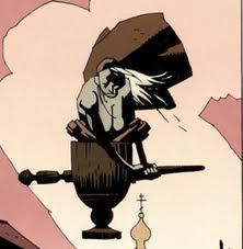 Baba Yaga disegnata da Mike Mignola.
