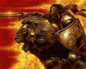 """Arioch, demone il cui nome in ebraioc significa """"fiero leone""""."""