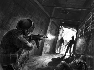 zombie vs soldiers