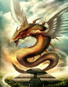 Quetzalcóatl e relativo tempio.