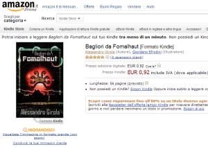 Bagliori da Fomalhaut, con la nuova copertina e il prezzo ribassato.