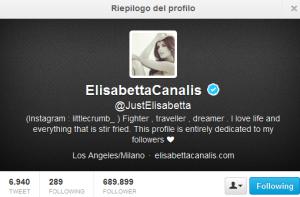 Il profilo Twitter ufficiale di Eli (https://twitter.com/JustElisabetta)