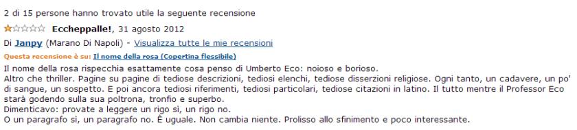 Umberto Eco ci deride dalla sua poltrona, sappiatelo.