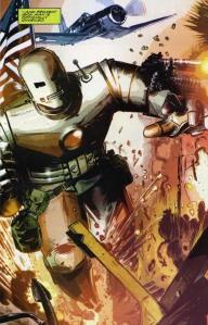 "In ""Bullet Points"" è Steve Rogers a pilotare l'armatura di Iron Man, perché non è mai diventato Capitan America."