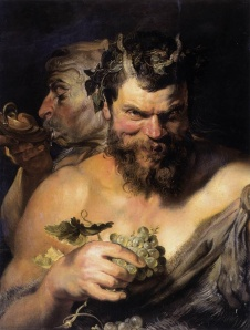 Two Satyrs: 1618 by Peter Paul Rubens.