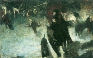 Wilde Jagd  - 1889 di Franz von Stuck.