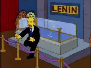 Lenin zombie, in una puntata dei Simpson.