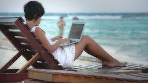 Scrivere in spiaggia