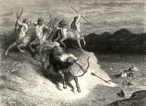 I centauri illustrati da Gustave Doré.