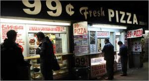 99 cents pizza