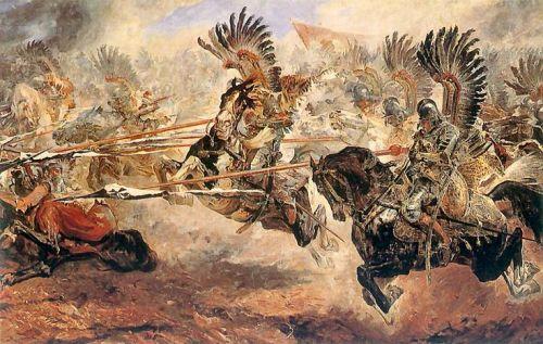 La carica degli Ussari nella Battaglia di Vienna.