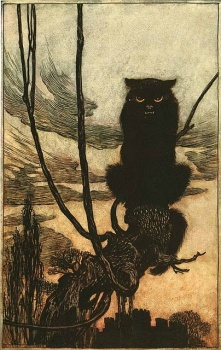 """Le illustrazioni di Arthur Rackham ricordano le atmosfere de """"Il Mangianomi""""."""