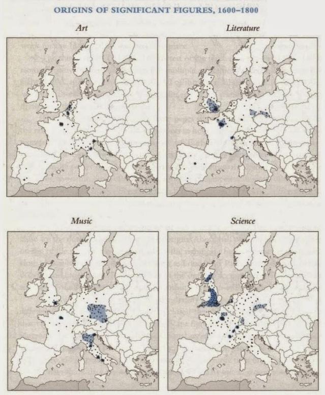 Origine dei geni (1600 - 1800).