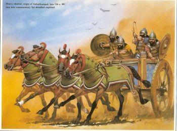 Carro da guerra assiro.