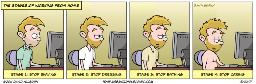 Ok, nell'home working ci sono anche alcuni rischi :)