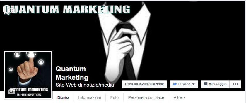 La pagina Facebook di Quantum Marketing.