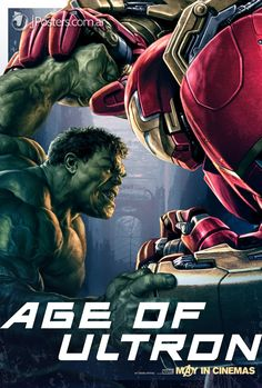 Age of Ultron poster Iron Man Hulk