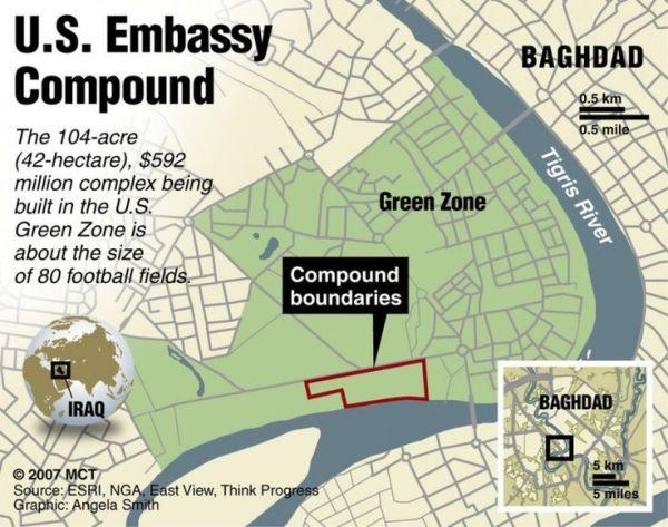 La Green Zone di Baghdad.