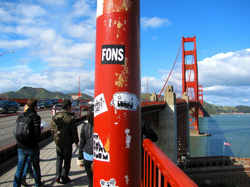 Graffiti al Golden Gate.