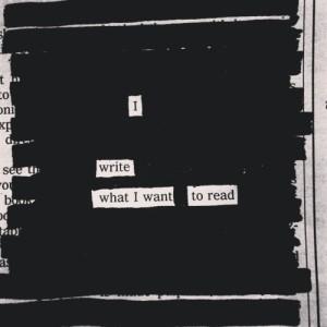 i write what