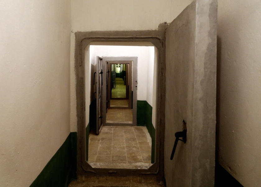 A long corridor is seen at a bunker, built by late communist dictator Enver Hoxha in Tirana, on Saturday, Nov. 22, 2014. A gigantic, secret underground bunker that Albania's communist regime built in the 1970s to survive a nuclear attack by the Soviet Union or the United States has been opened to the public for the first time. (AP Photo/Hektor Pustina)