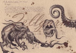 Shoggoth (artwork di Zellegarm).