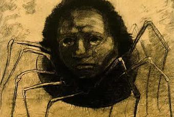 Odilon Redon, L'Araignée qui pleure (1881)
