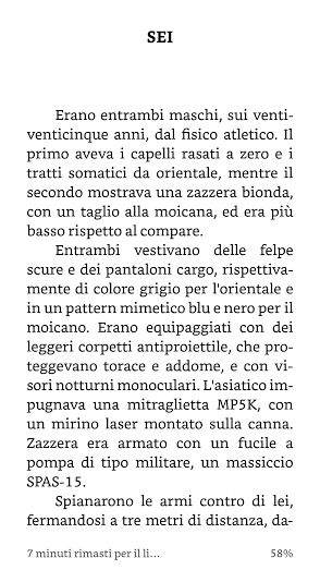 "Una cattura di ""Eden Nero"", dalla app Kindle del Wiko Fever."