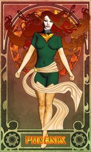 art nouveau phoenix