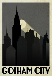 gotham city travel poster