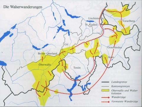 Le migrazioni dei Walser