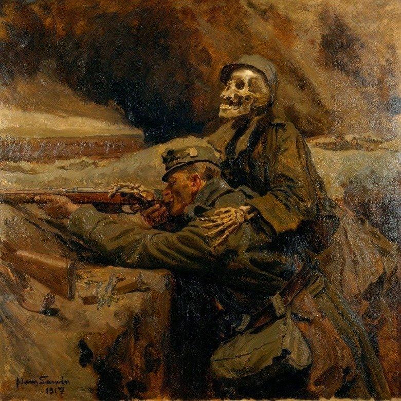 """""""Soldat und Tod"""" (Il Soldato e la Morte) - Hans Larwin, 1917."""