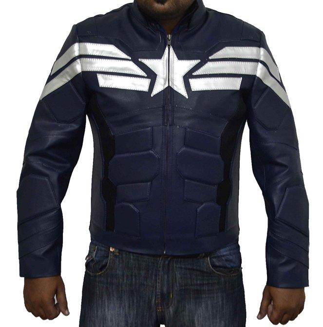 captain america giacca di pelle