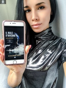 """Jessica Fiammetta con l'ebook """"Il Male d'inverno"""""""